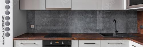 Fototapeta Kitchen with granite backsplash obraz