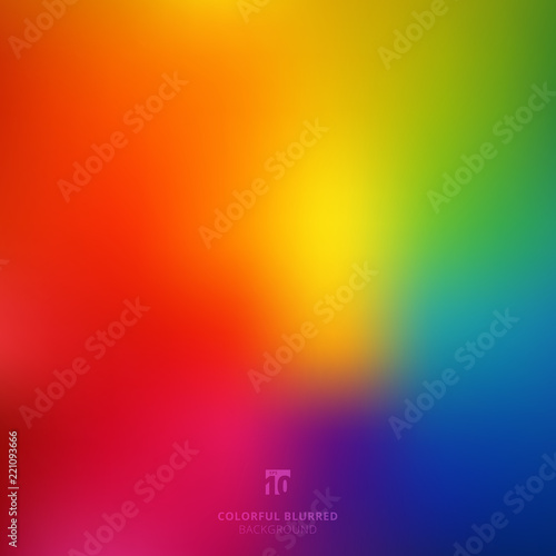 Photo  Abstract smooth blurred colorful bright rainbow color gradient mesh background