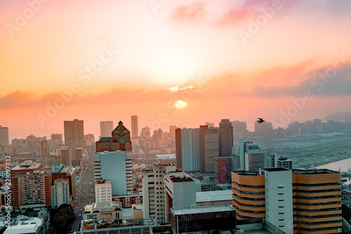 Sunrise in the City Canvas Print