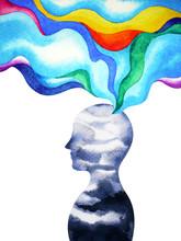 Human Head Spirit Powerful Ene...