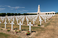 Cemetery Outside Of The Douaumont Ossuary Near Verdun France