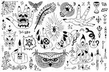 Tattoo Design Set With Gothic ...