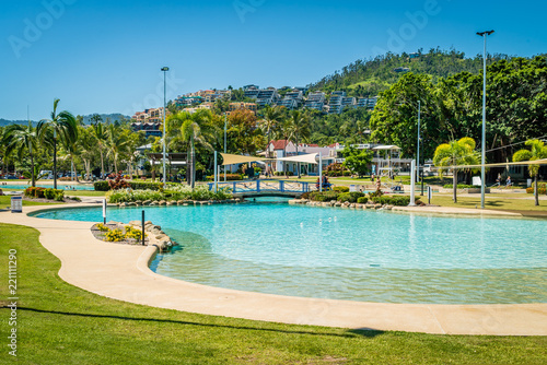 Airlie beach swimming pool lagoon in the summer, Queensland, Australia Wallpaper Mural