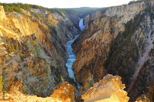 Lower Falls Artist point, Grand Canyon of Yellowstone National Park, Wyoming, USA