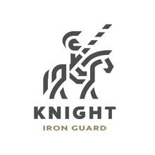 Equestrian Knight, Linear Logo...