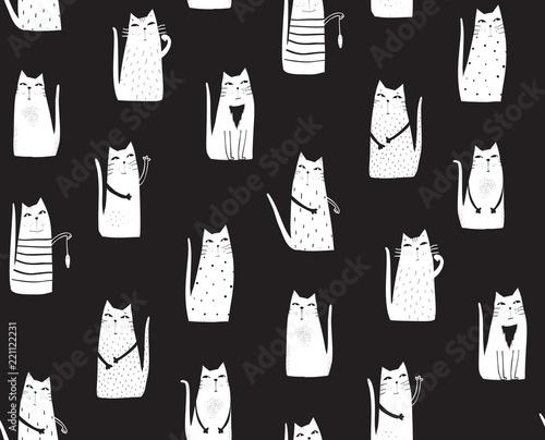 recznie-rysowane-koty-bezszwowe-tlo-graficzne