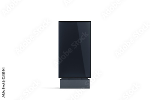 Blank black pylon display mock up, front view, isolated, 3d rendering Canvas Print