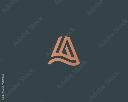 Photo  Letter A vector line logo design