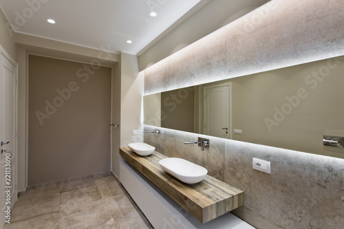 Fotomural  Modern bathroom with double sink
