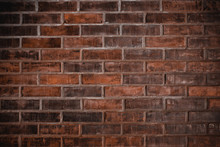 Old Red Brick Wall Vintage Gru...