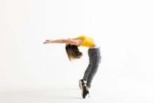 Hip Hop Dancer Doing Backbend While Standing On Tiptoes