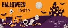 Happy Halloween Party Banner W...
