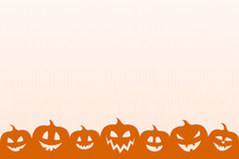 Halloween - Design Of Poster With Silhouettes Of Pumpkins. Vector.