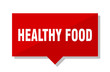 healthy food red tag