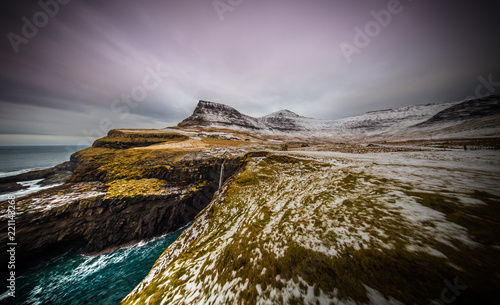 Spoed Foto op Canvas Bleke violet Faroe Islands