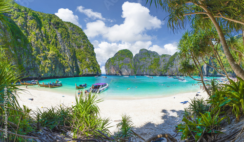 Amazing Maya Bay on Phi Phi Islands, Thailand Wallpaper Mural