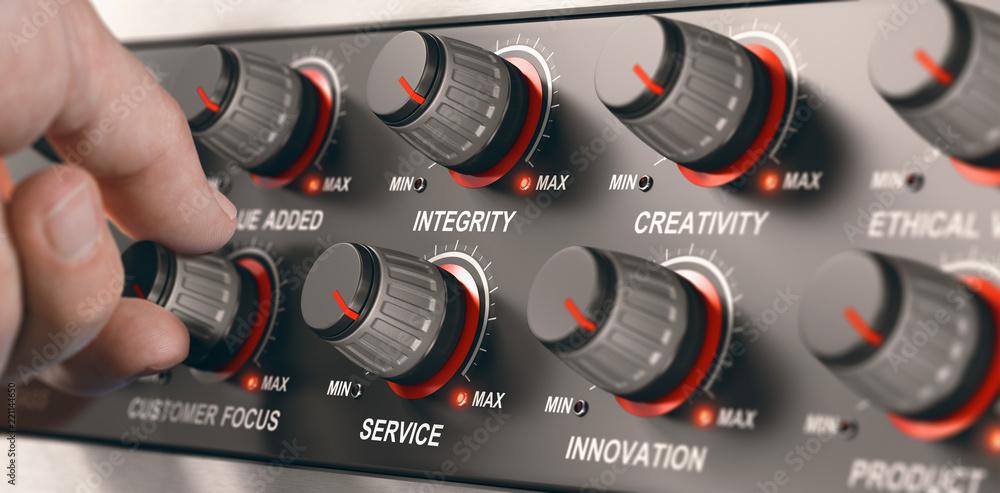 Fototapeta Business Core Values, High Quality Service
