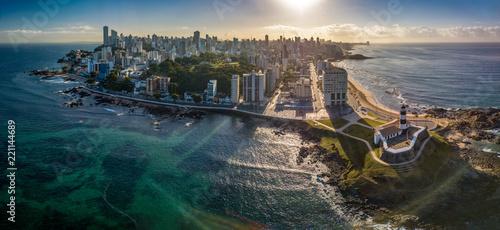 Fotografie, Obraz  Aerial View of Farol da Barra in Salvador, Bahia, Brazil
