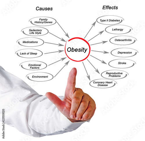 Photo Obesity: causes and effects