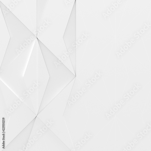 Foto  White Futuristic Background with Space For Text (3d illustration)