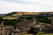 The View From The English Town Of Reeth In The Yourkshire Dales