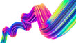 canvas print picture - Neon holographic liquid wave shape for trendy Christmas design backgrounds and posters