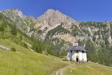 White Chapel In Alpine Mountain