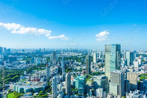 Foto op Canvas Pool 夏の東京風景 Tokyo city skyline , Japan
