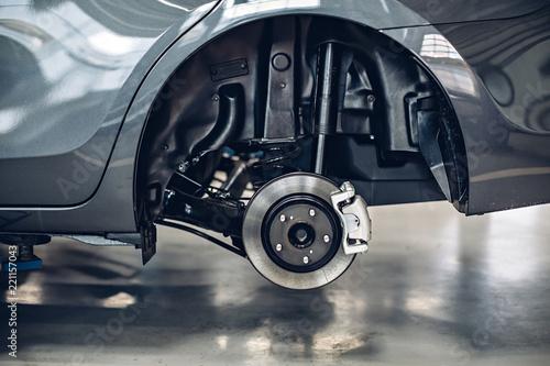 Fotografía  Auto car repair service center. Car maintenance concept