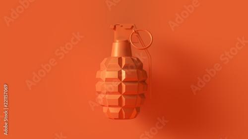 Orange Grenade Concept 3d illustration 3d render Wallpaper Mural
