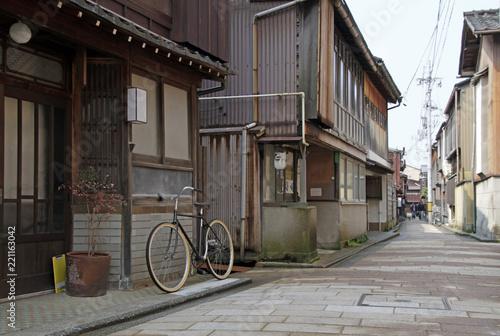 Wall Murals Pizzeria Street Scene in Kanazawa, Japan