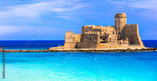 Le Castella .Isola di Capo Rizzuto - fantastic place with castle in the sea. Calabria, Italy