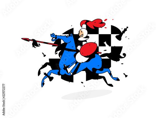 Fotografie, Obraz  Chess character, pawn on horseback