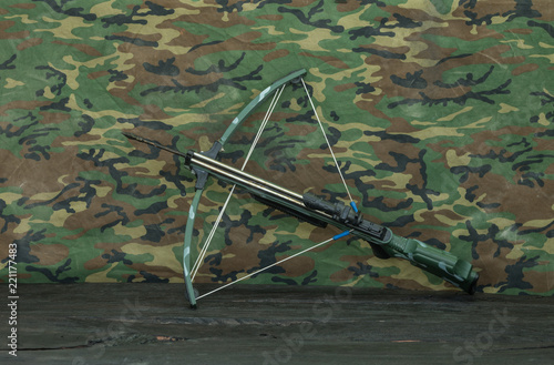 Photographie military crossbow on the table
