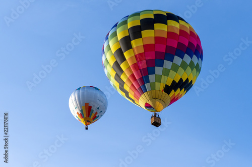 Happy hot air ballooning