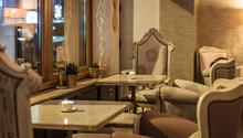 Restaurant Interior With Antique Furniture