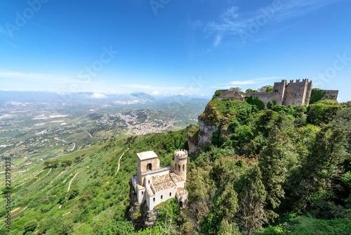 Fotografie, Obraz  Castles in Erice, Italy