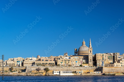 Canvas Prints Port Valletta Cityscape View
