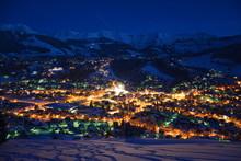 Megève De Nuit, Haute Savoie ...
