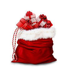 Gift bag on white background. 3D rendering.