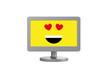 Bildschirm mit verliebten Emoji