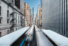 Two Trains Of The Chicago Metr...