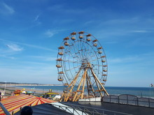 Ferris Wheel At Bridlington Beach UK