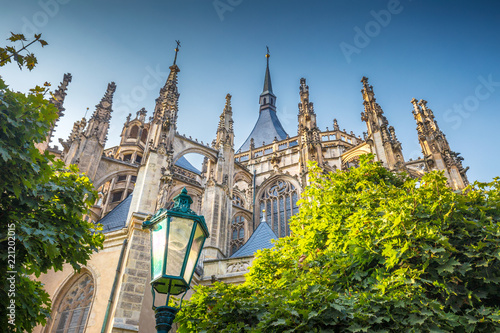 Photo  The Cathedral of St Barbara in Kutna Hora, Czech Republic, Europe