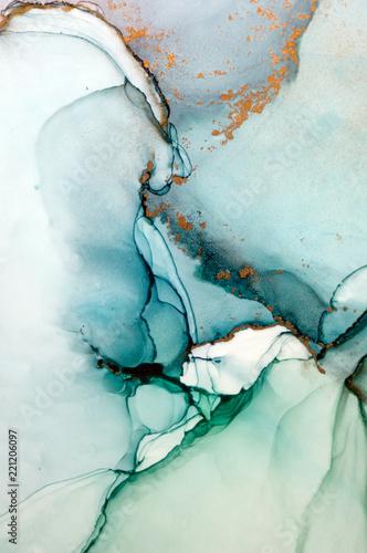Atrament, farba, abstrakcja. Zbliżenie obrazu. Kolorowy abstrakcyjny obraz tła. Farba olejna o silnej teksturze. Wysokiej jakości detale.
