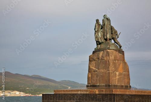 Foto op Aluminium Historisch mon. Monument to dead fishermen at Lazar Serebryakov embankment in Novorossiysk. Krasnodar region. Russia