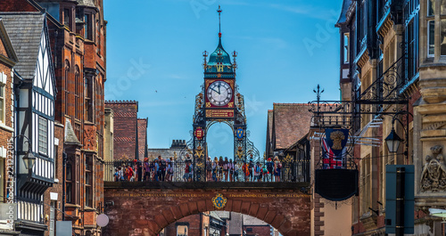 Canvas Eastgate and Eastgate Clock, Chester, UK