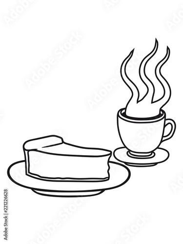 Kuchen Kasekuchen Schnittchen Teller Lecker Hunger Essen Heiss Glas