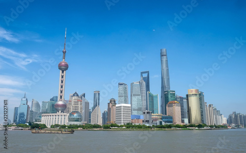 Foto op Aluminium Shanghai Shanghai city skyline, Panoramic view of shanghai city