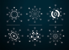 Vector Virtual Icons Network D...